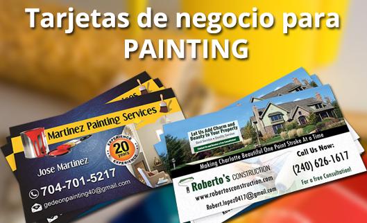 Tarjetas de negocio de pintura